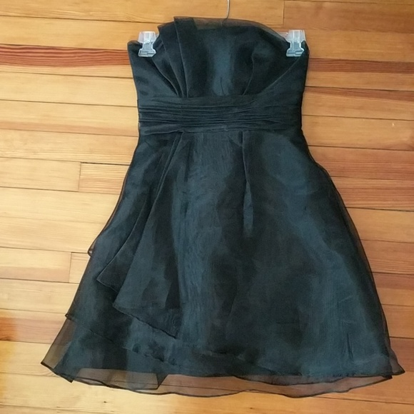 Davids Bridal Dresses Davids Bridal Black Bridesmaid Dress Poshmark